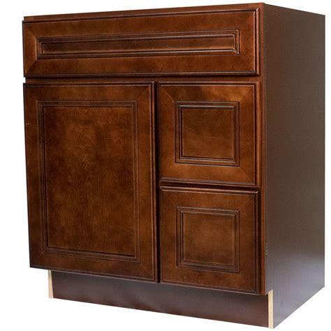 30 inch bathroom vanity single sink cabinet in leo saddle