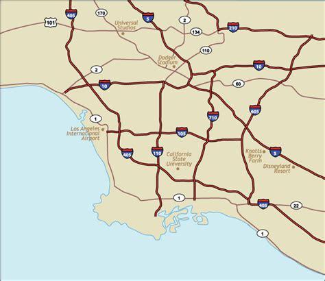 california map freeways geog7 eli rubin thematic map of la freeways
