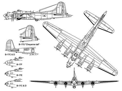 B 17 Sketches by B 17 Flying Fortress Aircraft