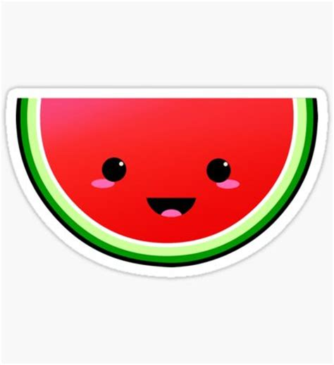 watermelon emoji watermelon emoji stickers redbubble