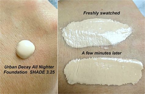 Decay All Nighter decay foundation shades allnighter