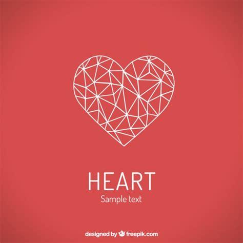 heart pattern logo polygonal heart vector premium download