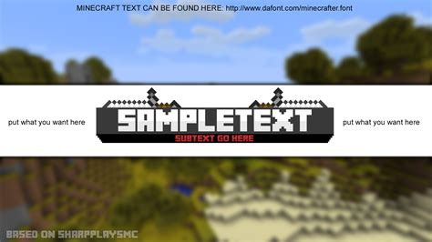 Minecraft Youtube Banner Template By Hsmlg On Deviantart Minecraft Banner Template