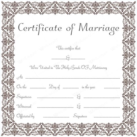 marriage certificate template microsoft word marriage certificate 18 word layouts