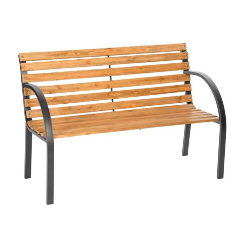 wood and cast iron bench wooden garden bench slat 3 seat with cast iron legs wood