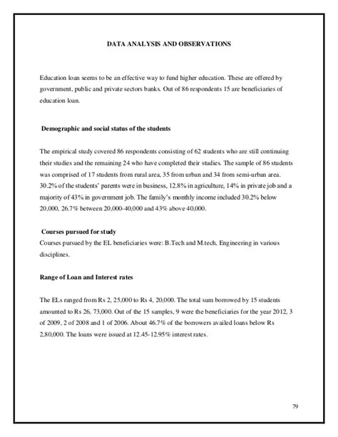 thesis on education loan review of literature on education loan in india