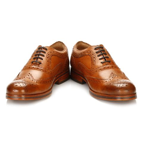 hudson oxford shoes hudson mens brown oxford brogues wingtip leather smart