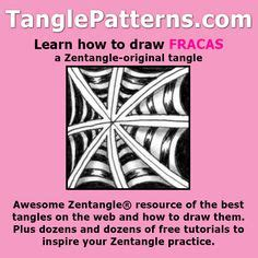 zentangle pattern fracas 1000 images about tangle patterns on pinterest learn