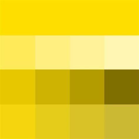 Hues Of Yellow | golden yellow hue tints shades tones hue pure