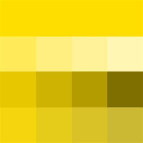 golden yellow hue tints shades tones hue pure