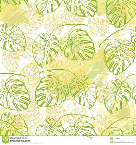 contour wallpaper abstract leaves seamless pattern contour leaves royalty free stock image