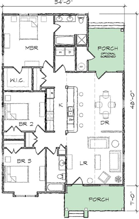 narrow lot bungalow house plan 10035tt cottage narrow