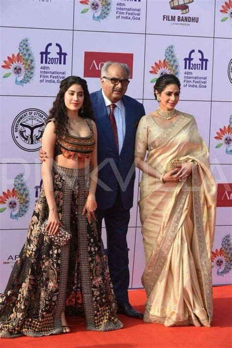 sridevi with her husband sridevi with her husband and her daughter janvi uday