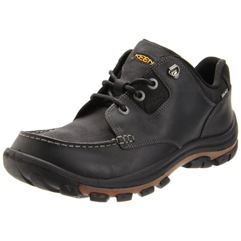 keens shoes for keen mens nopo lace waterproof shoe in black for lyst