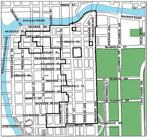 chicago map of the loop city of chicago central loop tif