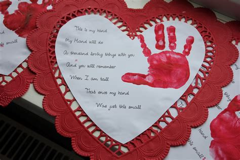 valentines day poems for kindergarten crafts for preschoolers to parents