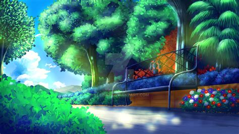 anime in background background anime park by sleince on deviantart