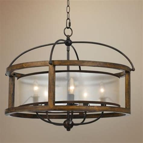 dining room pendant mission 26 quot wide wood 5 light pendant chandelier pendant