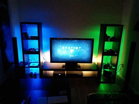 gaming setup maker home decor design ideas my ps4 xboxone gaming setup gaming