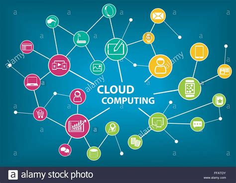 background information cloud computing concept information technology vector