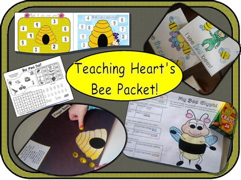 bee finger puppet template bug insect themed printables centers math literacy