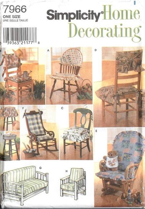 sewing patterns for home decor simplicity slip covers chair sofa ottoman home decor