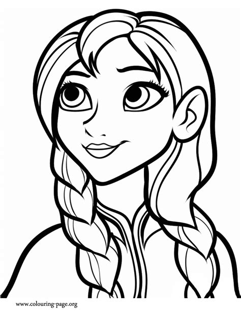 Free Coloring Pages Of Anna Coloring Page Frozen