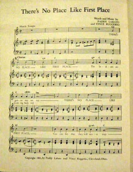 A Place Cleveland Lyrics Lot Detail 1951 Cleveland Indians Sheet