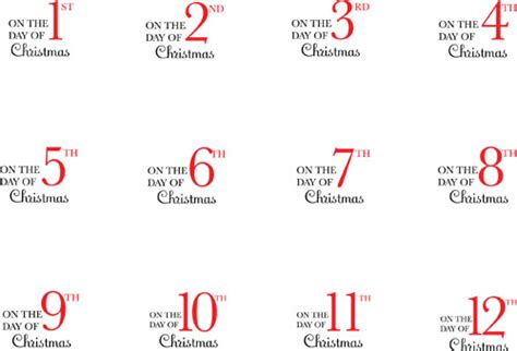 12 days of christmas gift tags 12 days of tags november december 2010 creating keepsakes