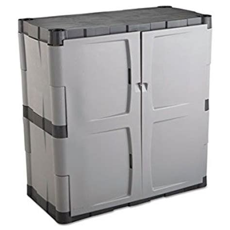 amazon com rubbermaid plastic storage cabinet 36x18x37