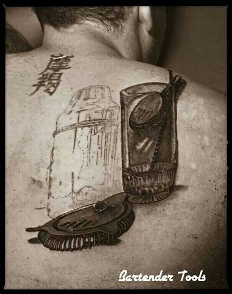 bartender tools tattoo tattoos pinterest