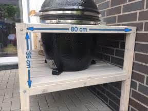 grill tisch selbstgebauter grilltisch f 252 r den monolith classic grill