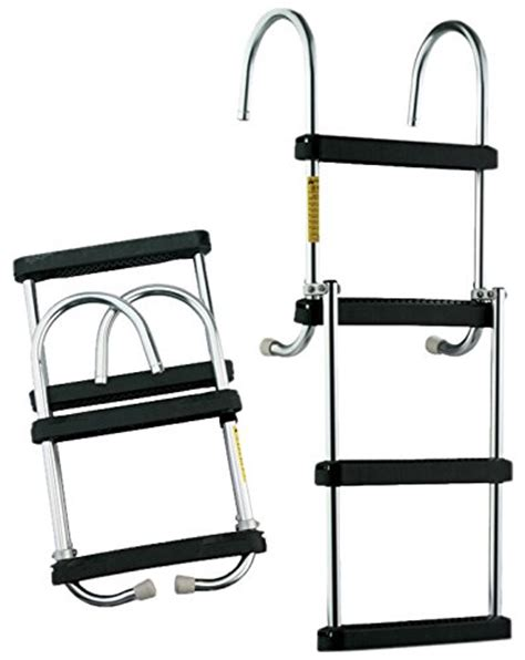 boat ladder bungee garelick 12350 21 folding pontoon ladder