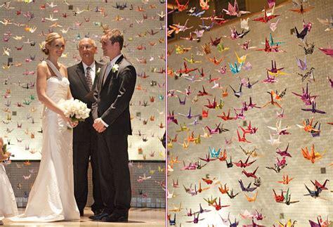 Origami Crane Wedding Decoration - origami decor ideas paper cranes origami