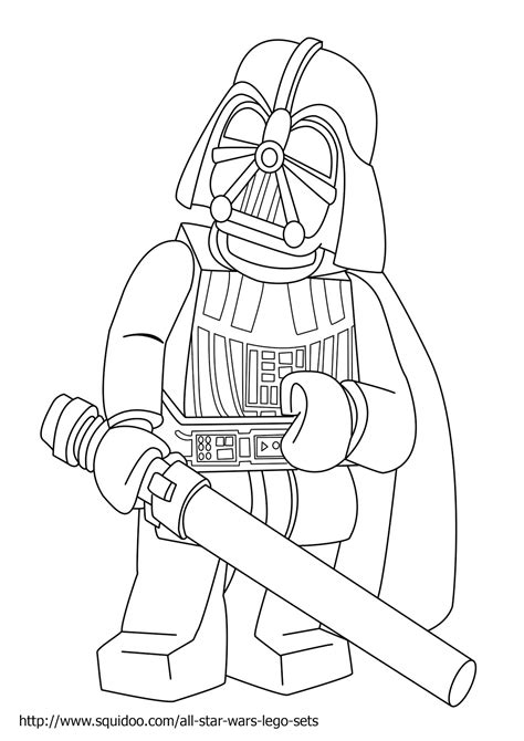 Star Wars Mask Coloring Pages Lego Wars Coloring Page