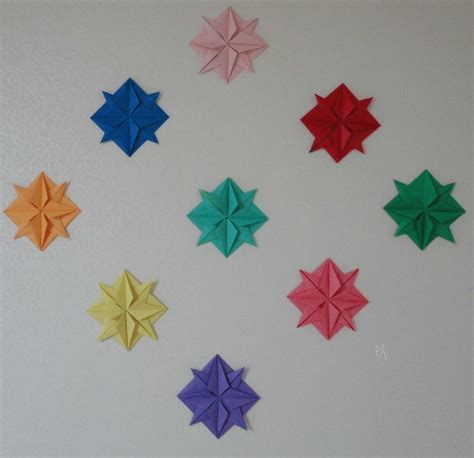 Origami Wall - origami wall by akaitennyo on deviantart