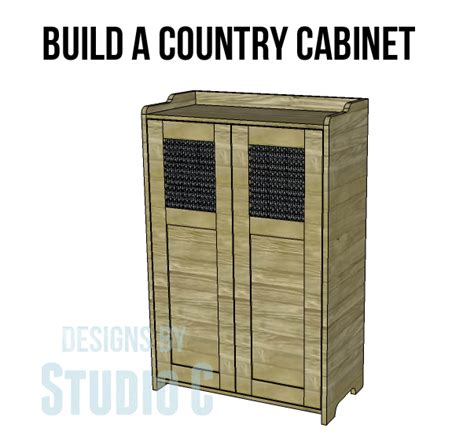 country storage cabinet plans