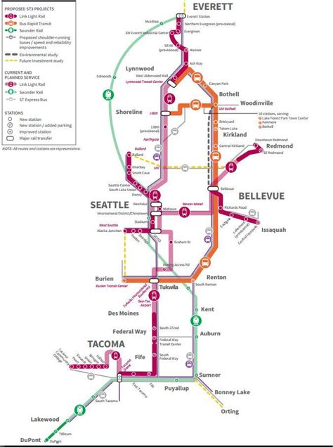 seattle light rail map sound transit wants to expand light rail to west seattle