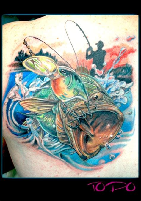 fishing lure tattoo designs bass fishing lure motion by todo of