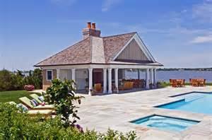 Cabana Pool House Bayfront Pool Cabana Htons Habitat
