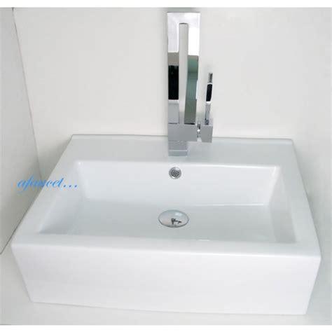 rectangular porcelain ceramic single countertop
