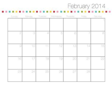 Feb 2014 Calendar Free Printable Calendars I Nap Time