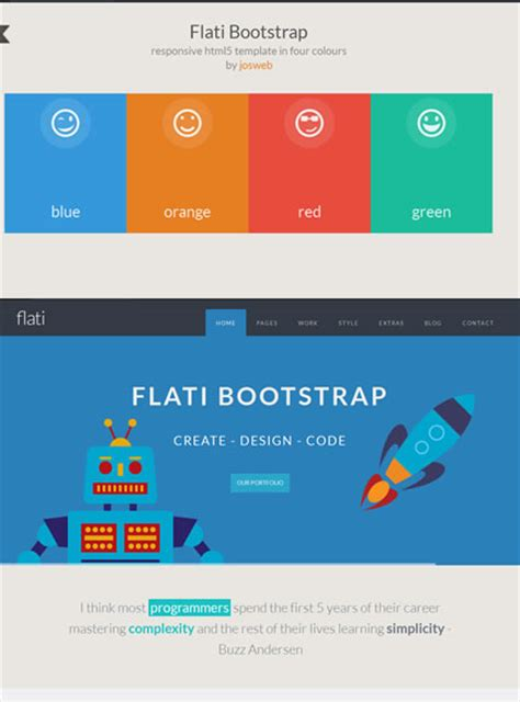 flat template bootstrap flat design website templates entheos