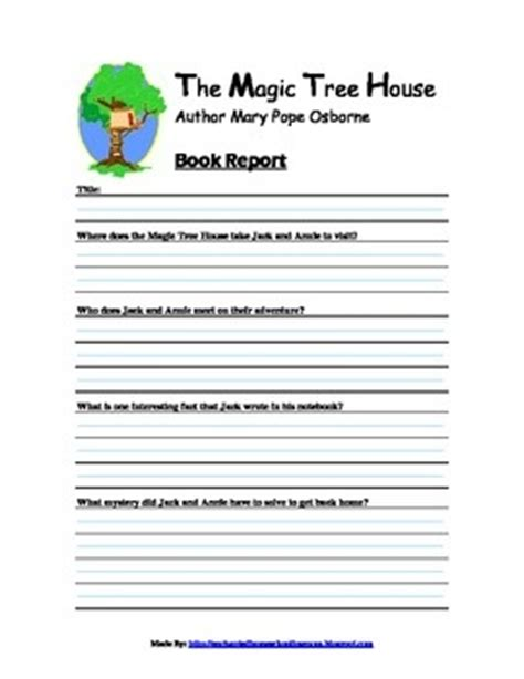 silent book report magic tree house book report form magic tree house