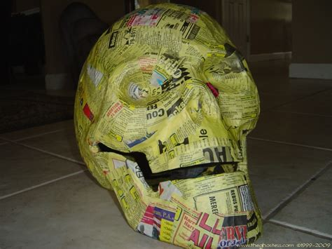 How To Make Paper Mache Skulls - richard