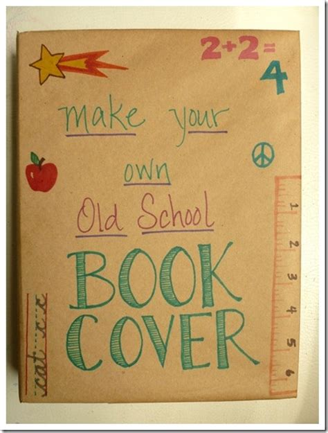 make your own old school book cover using grocery bag