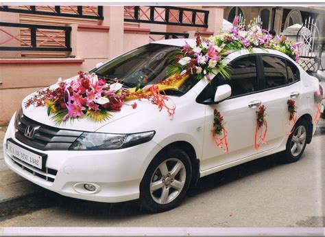 Fresh Flower Car Decoration by Photo Gallery Sanchitha Event Management