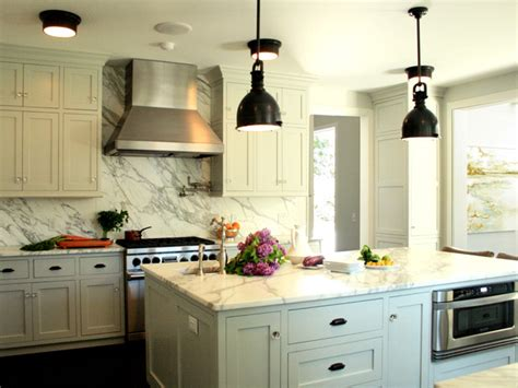white kitchen bronze hardware farmhouse kitchen with industrial pendant lights hgtv
