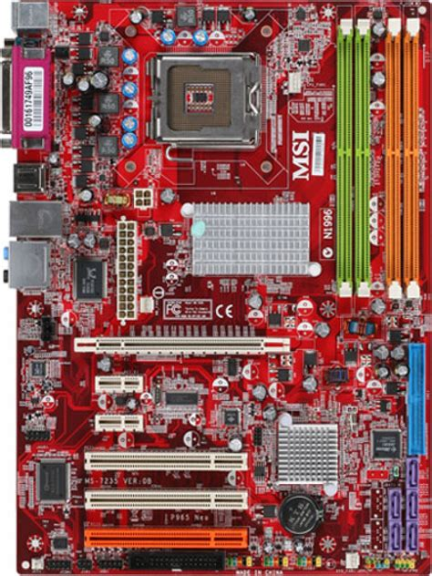 msi n1996 sockel overview for p965 neo motherboard the world leader in