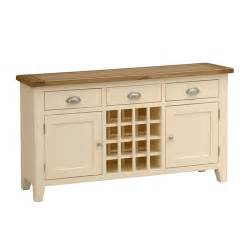 cheltenham cream painted sideboard with wine rack v856 with free delivery the cotswold
